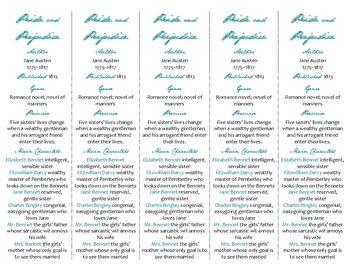 Pride and Prejudice edition of Bookmarks Plus—Fun Freebie & Handy Reading Aid!