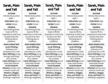 Sarah, Plain and Tall edition of Bookmarks Plus—Fun Freebie & Handy Reading Aid!
