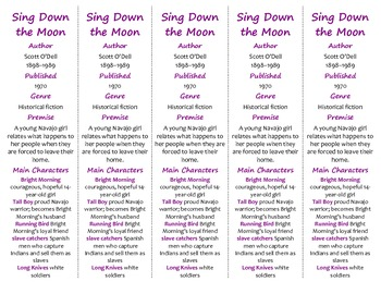 Sing Down the Moon edition of Bookmarks Plus—A Handy Little Reading Aid!