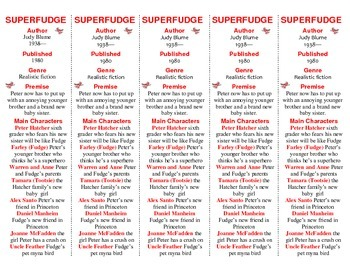 Superfudge edition of Bookmarks Plus—Fun Freebie & Handy Reading Aid!