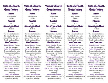 Tales of a Fourth Grade Nothing edition of Bookmarks Plus—