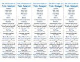 The Adventures of Tom Sawyer ed. of Bookmarks Plus—Fun Freebie & Reading Aid!