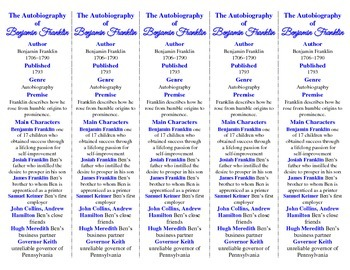 The Autobiography of Benjamin Franklin edition of Bookmarks Plus—Handy!