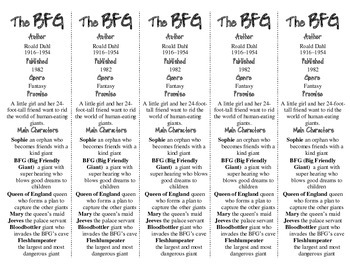The BFG edition of Bookmarks Plus—Fun Freebie & Handy Little Reading Aid!