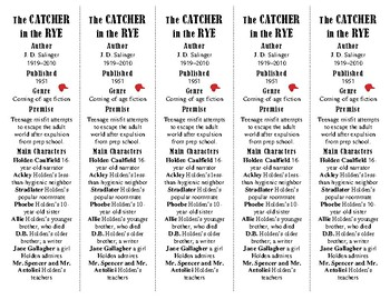 The Catcher in the Rye ed. of Bookmarks Plus—Fun Freebie & Handy Reading Aid!