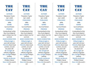 The Cay edition of Bookmarks Plus—Fun Freebie & Handy Reading Aid!