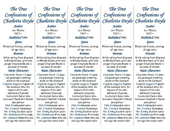The True Confessions of Charlotte Doyle edition of Bookmarks Plus—Handy!