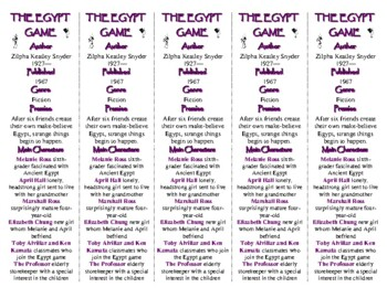 The Egypt Game edition of Bookmarks Plus—Fun Freebie & Handy Reading Aid!