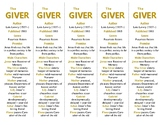 The Giver edition of Bookmarks Plus—A Handy Little Reading Aid!