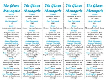 The Glass Menagerie edition of Bookmarks Plus—Use w/TGM Analogy Crossword