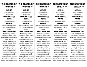The Grapes of Wrath edition of Bookmarks Plus—Fun Freebie & Handy Reading Aid!