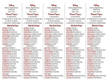 The Kite Runner edition of Bookmarks Plus—Fun Freebie & Handy Reading Aid!
