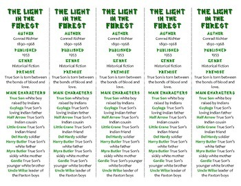The Light in the Forest edition of Bookmarks Plus—Fun Freebie & Handy Reading Ai