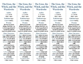 The Lion, The Witch, and the Wardrobe ed. of Bookmarks Plus—Handy Reading Aid!