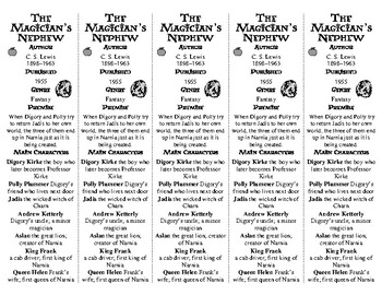 The Magician's Nephew edition of Bookmarks Plus—A Handy Little Reading Aid!