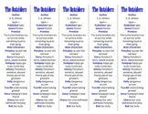 "The Outsiders edition of Bookmarks Plus—Great ""Gift"" and a"