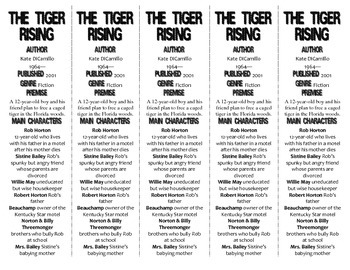 The Tiger Rising edition of Bookmarks Plus—Fun Freebie & Handy Reading Aid!
