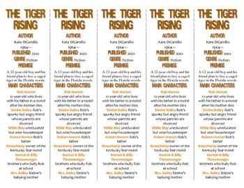 The Tiger Rising edition of Bookmarks Plus—A Handy Little