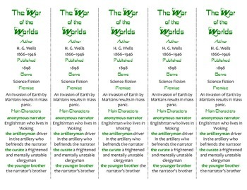 The War of the Worlds edition of Bookmarks Plus—Fun Freebie & Handy Reading Aid!