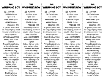 The Whipping Boy edition of Bookmarks Plus—Fun Freebie & Handy Reading Aid!