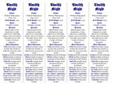Twelfth Night edition of Bookmarks Plus—Fun Freebie & Handy Reading Aid!