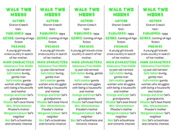 Walk Two Moons edition of Bookmarks Plus—Fun Freebie & Handy Reading Aid!
