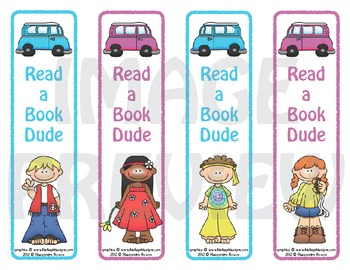 Bookmarks: Read a Book Dude