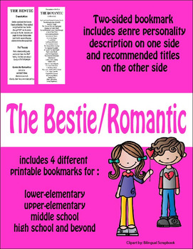 Bookmarks--Recommendations for The Bestie and The Romantic