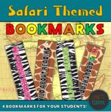 Bookmarks | Safari Themed Bookmarks | Animal Print