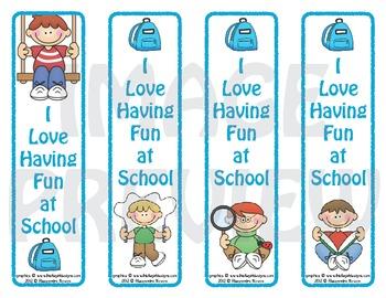 Bookmarks: School Fun Boys