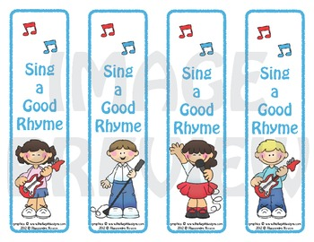 Bookmarks: Sing a Good Rhyme