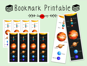 Bookmarks [Solar System/Planets] Printables