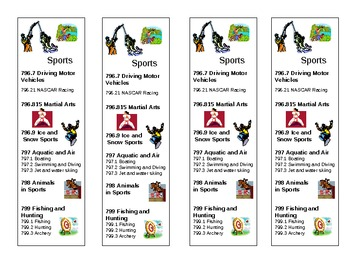 Bookmarks - Sports Theme