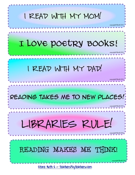 Bookmarks Stickers Labels