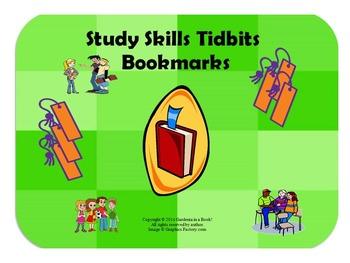 Study Skills Tidbits Bookmarks!