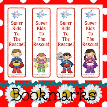Bookmarks: Super Kids To The Rescue