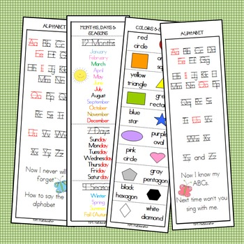 Bookmarks That Teach (K-2nd)