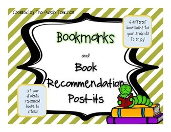 Bookmarks and Book Recommendation Post-its