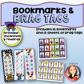 Reading Bookmarks and Brag Tag Incentives