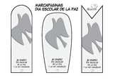 Bookmarks and templates for Peace Day