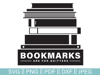 Funny Reading Literature Cut File and Clip Art - SVG, PNG, PDF, DXF, JPG