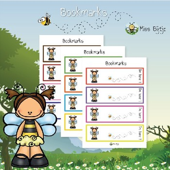 Bookmarks bee-themed