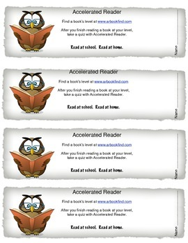 Bookmarks for Accelerated Reader