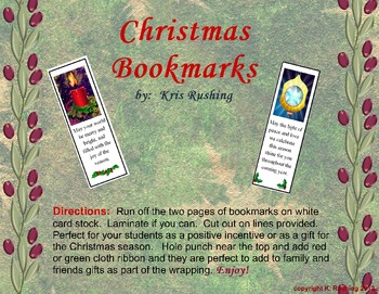 Bookmarks for Christmas