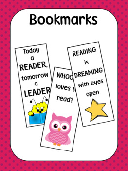 Bookmarks for Classroom Reading