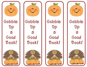 Bookmarks for Fall Thanksgiving or Autumn