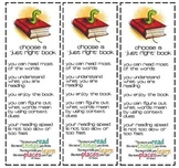Bookmarks for Just Right Books