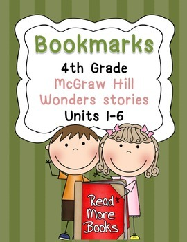 Bookmarks for McGraw Hill Wonders Grade 4