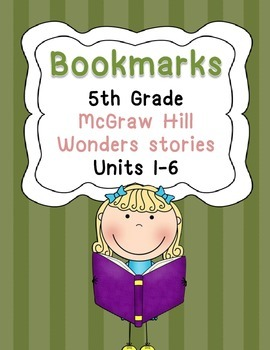 Bookmarks for McGraw Hill Wonders Grade 5