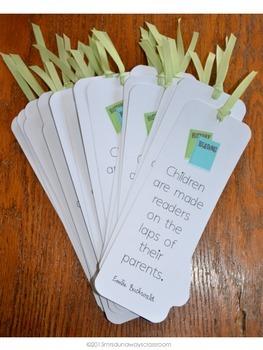 Bookmarks for Parents, Grandparents, or Caregivers